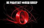 Почему в браузере Опера не работает Флеш Плеер