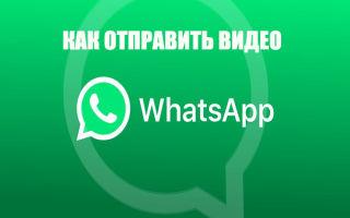 Отправка видео через Ватсап: длинное, короткое, с компа и телефона