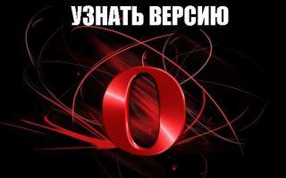 Как узнать установленную версию браузера Opera