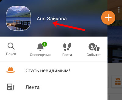 Откройте профиль в мобильном приложении