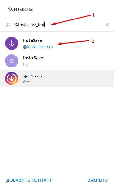 Процесс добавления бота в Телеграм