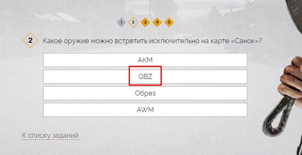 Выбор варианта QBZ