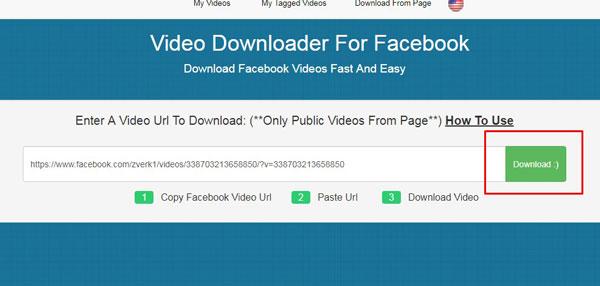 Выбор кнопки «Download»