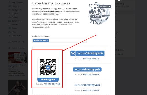 Выделен QR-код