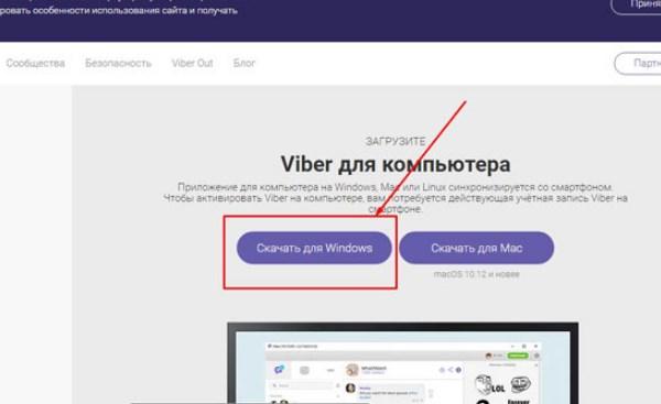 Выбор кнопки «Скачать для Windows»