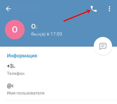 Как позвонить в Телеграмм