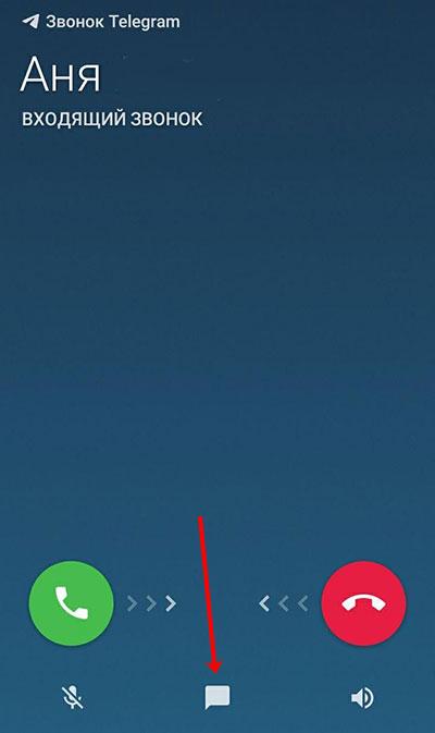 Входящий звонок в Телеграмм