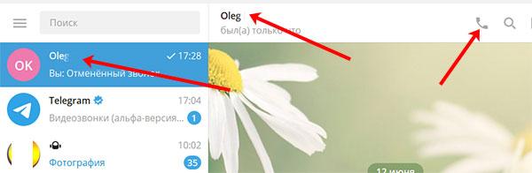 Приложение Telegram для ПК